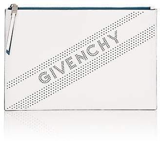 Givenchy Women's Emblem Medium Leather Zip Pouch - White
