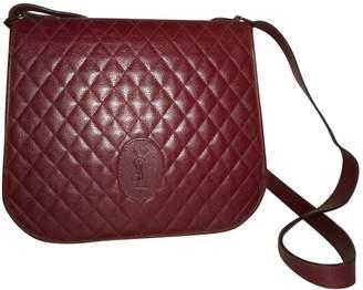 Saint Laurent Vintage Burgundy Leather Handbag