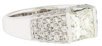 Ring Platinum 1.96ct Diamond