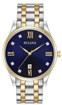 Bulova Diamond Hour Marker Analog Watch