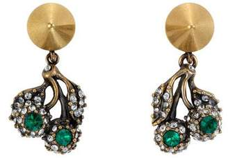 Gucci Flowers pendant earrings with crystals