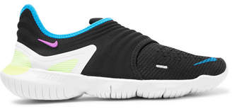 Nike Running - Free RN 3.0 Flynit and Neoprene Slip-On Sneakers - Men - Black