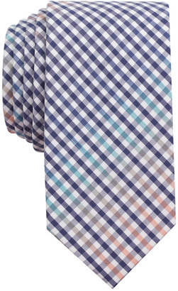 Bar Iii Men's Rugby Gingham Skinny Tie, Created for Macy's $55 thestylecure.com