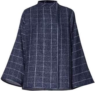 PAISIE - Checked Jacket with Kimono Sleeves