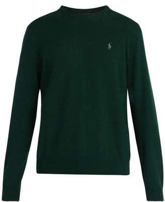 Polo Ralph Lauren Logo Embroidered Wool Sweater - Mens - Green