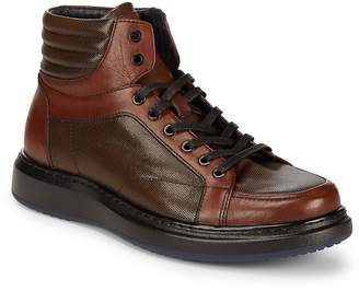 Karl Lagerfeld Men's High Top Leather Boots