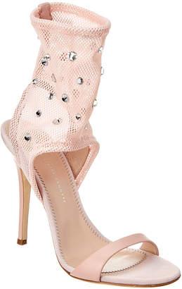 Giuseppe Zanotti Embellished Leather & Mesh Sandal