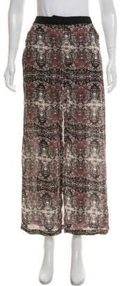 A.L.C. Silk Printed Skirt