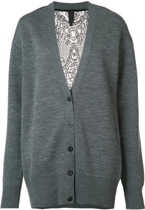 Vera Wang lace back cardigan $1,650 thestylecure.com
