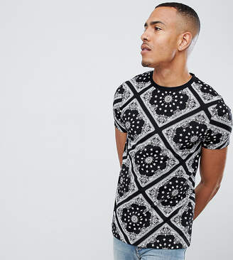 Asos DESIGN Tall t-shirt with all over bandana print