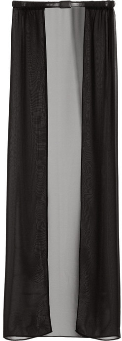 Maison Martin Margiela Skirt-effect chiffon and leather belt