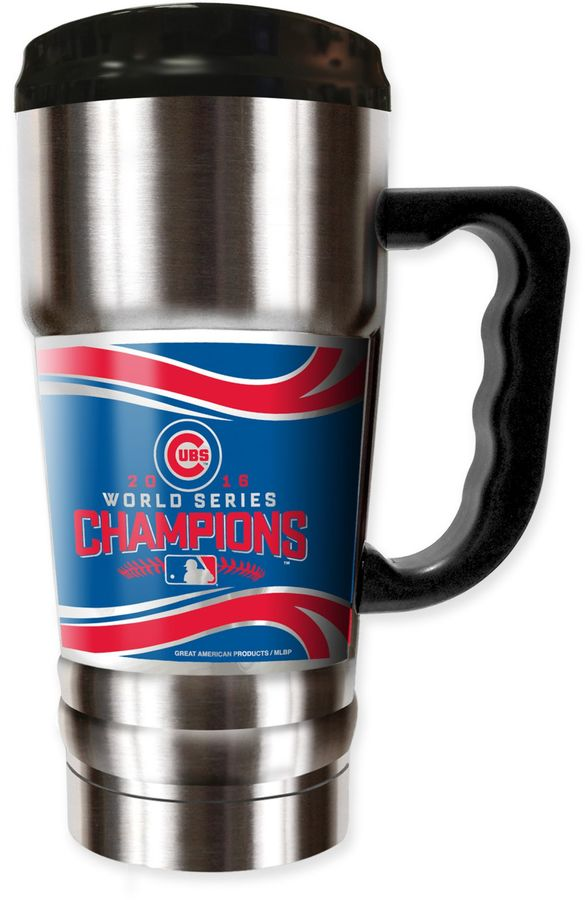 MLB Chicago Cubs World Series Champions 20 oz. Stainless Steel Emblem Travel Mug