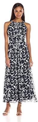 Ronni Nicole Women's Sleevless Chiffon Print Maxi