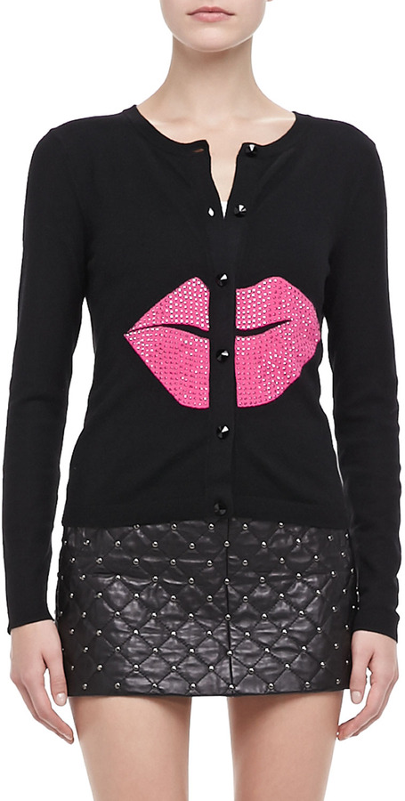 Alice + Olivia Studded Lips Knit Cardigan (Stylist Pick!)