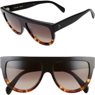 5e9c938cd7 Celine Flat Top Sunglasses - ShopStyle