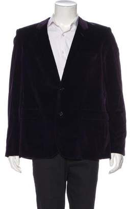 Saint Laurent Velvet Silk-Lined Blazer