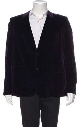 Saint Laurent Velvet Silk-Lined Blazer