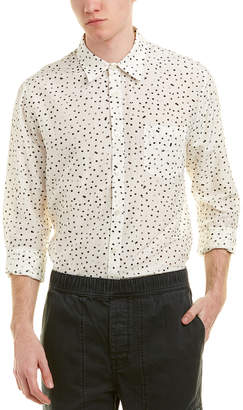 Vince Pocket Silk-Blend Woven Shirt