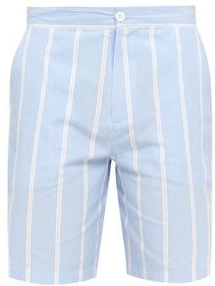 P. Le Moult - Small Stripe Pipeline Pyjama Shorts - Mens - Blue