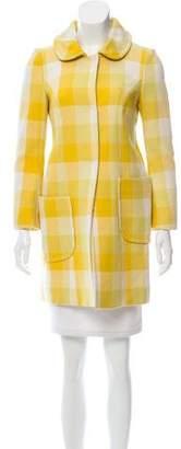 Philosophy di Alberta Ferretti Checkered Wool Coat
