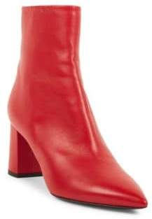 Saint Laurent Betty Leather Mid Calf Boots