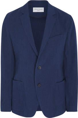 Officine Generale Cotton Seersucker Blazer