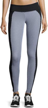 Koral Activewear Polarize Dot-Print Performance Leggings, Black/White $79 thestylecure.com