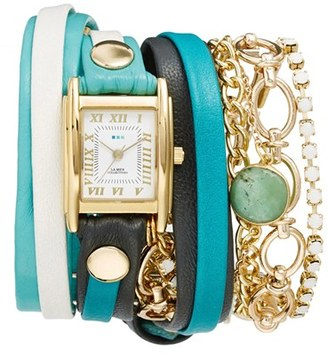 Women's La Mer Collections Leather & Chain Wrap Bracelet Watch, 28Mm $185 thestylecure.com