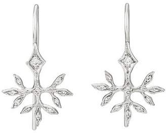 Cathy Waterman Women's Budding Leaves Earrings - Silver