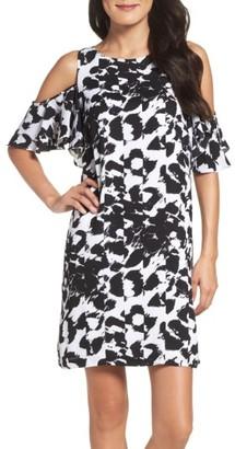 Women's Julia Jordan Cold Shoulder Woven Shift Dress $128 thestylecure.com