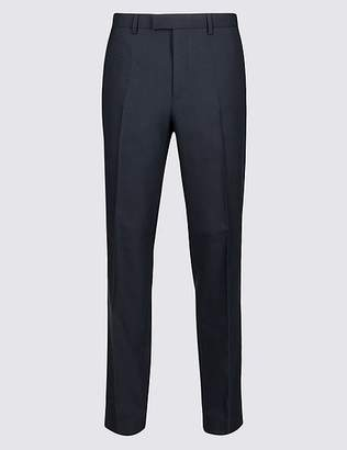 Marks and Spencer Big & Tall Navy Textured Slim Fit Trousers