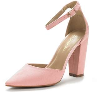 DREAM PAIRS Women's Coco Mid Heel Pump Shoes