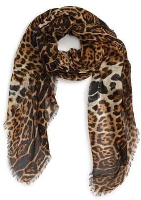 Leopard Square Scarf