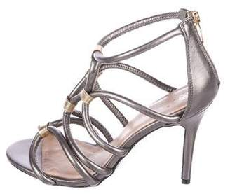 Trina Turk Leather Caged Sandals