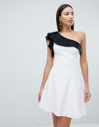 Forever Unique Mono One Shoulder Mini Dress
