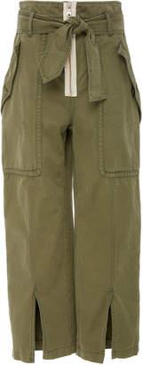 Marissa Webb Reid Herringbone utility cotton pants