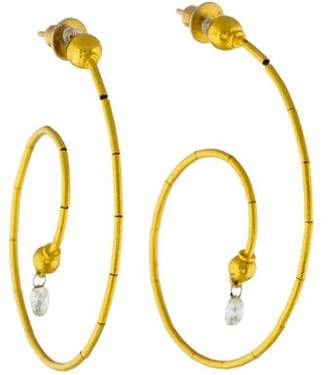 Gurhan 24K Diamond Hoop Earrings