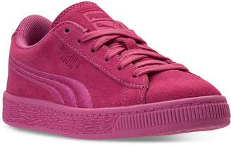Puma Little Girls' Suede Classic Badge Casual Sneakers from Finish Line