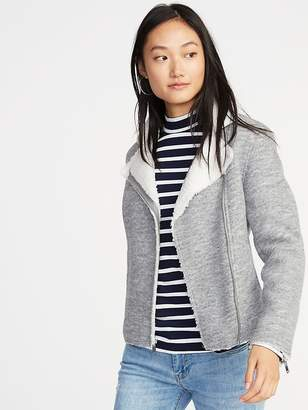 Old Navy Sherpa-Lined Moto Jacket for Women