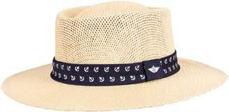 Dockers Men's Straw Gambler Hat with Custom Anchor Band