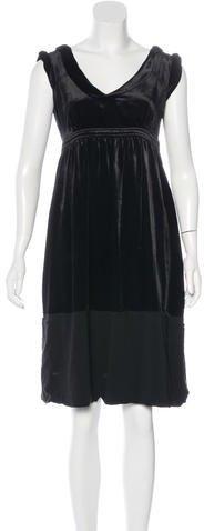 Burberry Burberry London Velvet Knee-Length Dress