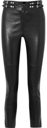 Isabel Marant Preydie Leather Skinny Pants - Black