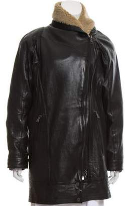 Edun Leather Bomber Coat