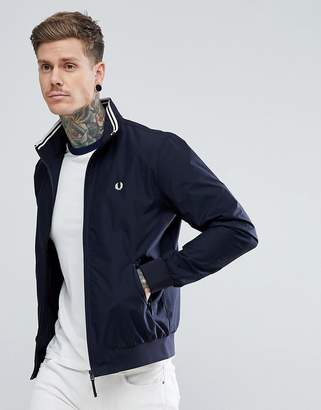 Fred Perry Brentham Zip Through Jacket In Navy
