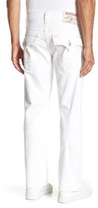 True Religion Ascot Grey Stitch Straight Leg Jeans