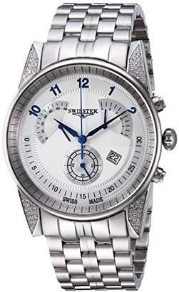 Swisstek Men's 'Retro-Tek' Quartz Stainless Steel Casual Watch
