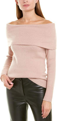 Theory Off-The-Shoulder Wool-Blend Sweater