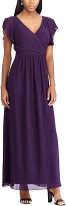Chaps Women's Surplice Georgette Evening Gown