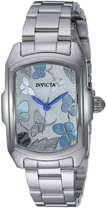 Invicta Women's 'Lupah' Quartz Stainless Steel Dress Watch, Color:-Toned (Model: 23218)