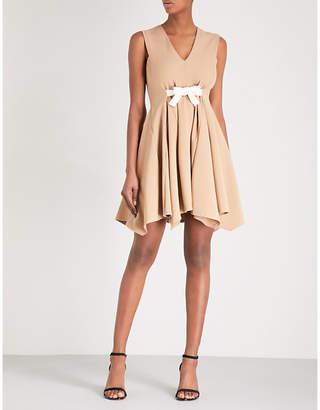 Maje Bow-waist jersey dress